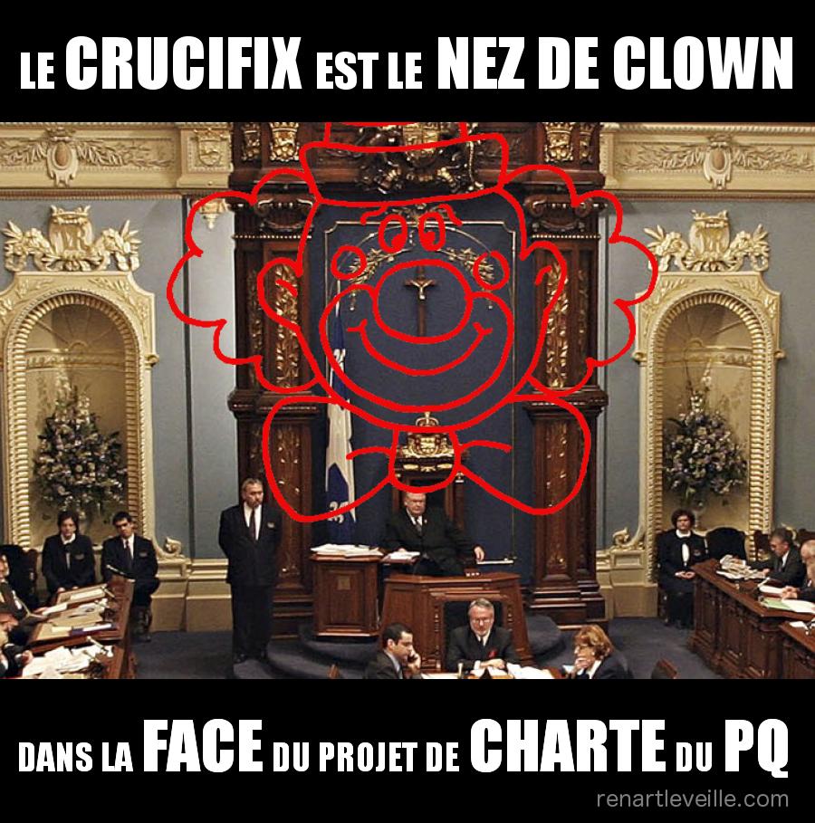 crucifix assnat nez de clown