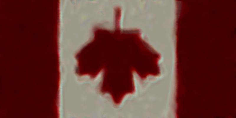Drapeau du Canada à l'envers