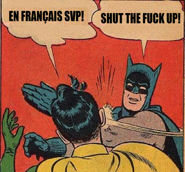 En francais svp batman