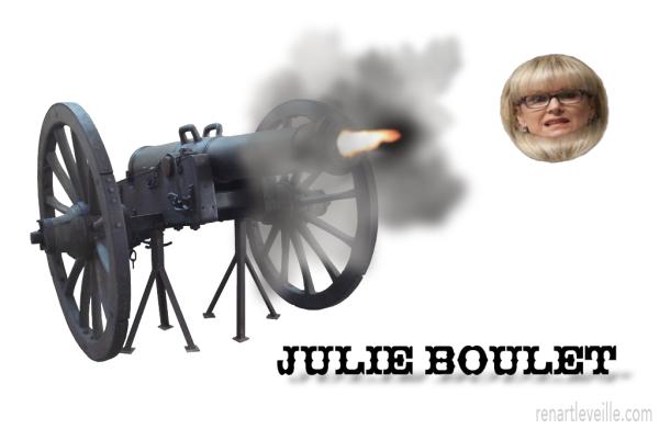 Julie boulet de cannon