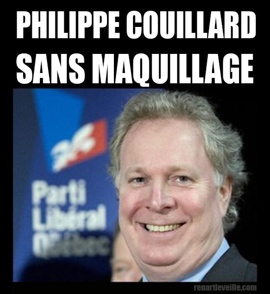 Philippe Couillard sans maquillage
