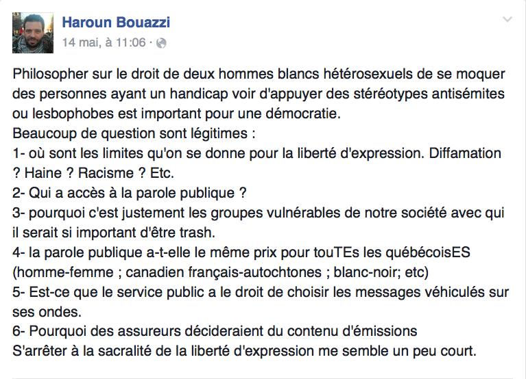 Haroun Bouazzi hommes blancs